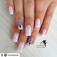 Love Nails, Fun Nails, Pretty Nails, Pink Nail Art, Cute Nail Art, Bridal Nails, Wedding Nails, Wonder Nails, Stylish Nails