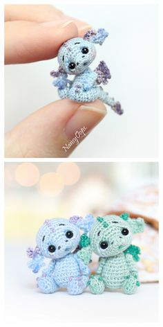 cute Crochet 733734964279782859 - Source by missdadidou Crochet Animal Amigurumi, Crochet Amigurumi Free Patterns, Crochet Animal Patterns, Crochet Animals, Crochet Dolls, Disney Crochet Patterns, Amigurumi Toys, Dragon En Crochet, Crochet Dragon Pattern