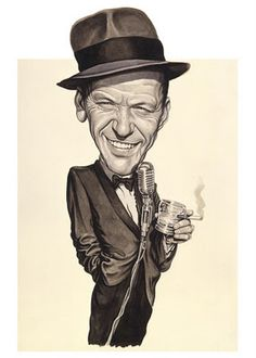 Frank Sinatra (by Court Jones) - CARICATURE: http://dunway.com/