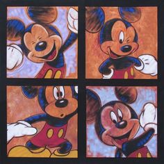 """""""Hip to be Square - Suite"""" by Stephen Fishwick - Original Acrylic on Canvas, 96x96. #Disney #MickeyMouse #DisneyFineArt #StephenFishwick"""