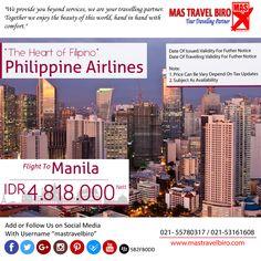 Terbang ke Philippines mulai dari Rp 4.818.000 Nett PP , Yuk Pesan :D #mastravelbiro #promotiket #philippines