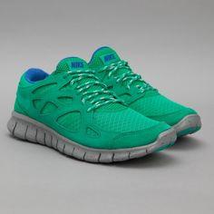 Nike Free Run +2 in Stadium Green / Silver