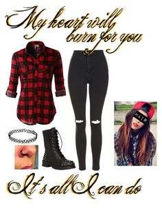 """""""Fire and Fury ~ Skillet"""" by im-punk-not-dead ❤ liked on Polyvore featuring LE3NO and Topshop"""
