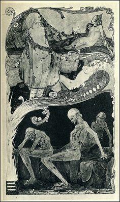 Harry Clarke, Selected Poems of Swinburne, Complaint of the Fair Armouress