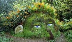 Very well created nature artwork. Seems to be created by out of plants and stones.