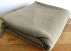 Wool Army Blanket by MarketHome on Etsy, $34.00