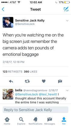 Ten pounds of emotional baggage...oh my.
