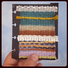 Somehow my current little art journal inspires me to get creative with yarn. Embroidery weaving - let's see what I will come up with next . Weaving Yarn, Inspire Me, Poetry, How To Get, Journal, Let It Be, Embroidery, Creative, Artist
