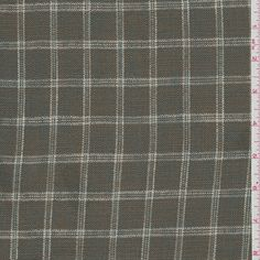 *4 3/4 YD PC--Mustard Gold Check Linen - 24133-C1 | Discount By The Yard | Fashion Fabrics