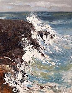 Aruba Coastline by artist Charlotte Lough. #artwork found on the FASO Daily Art Show - http://dailyartshow.faso.com