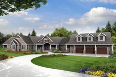 House Plan 60965 | Country Ranch Traditional Plan with 4568 Sq. Ft., 3 Bedrooms, 5 Bathrooms, 3 Car Garage