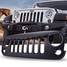 Black Set of 2 JeepTails Irish Tail Lamp Covers Compatible with Jeep JK Wrangler