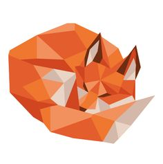 Low Poly Fox on Behance by Jennifer Tamochunas