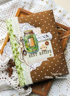 Create. Inspire. Love: Кулинарный блокнот с огурчиками, ТОПы и реклама пряничков Vintage Notebook, Fabric Book Covers, Diy And Crafts, Paper Crafts, Do It Yourself Crafts, Book Binding, Cookbook Recipes, Vintage Recipes, Scrapbook Albums