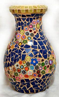 mosaic planters pots - Google Search                                                                                                                                                     More