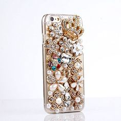 Happy Hours® Luxury 3D Handmade Glitter Crystal Rhinestone Fashion Bling Case Cover Clear Hard Phone Shell Protection for Apple iPhone 6 Plus (5.5 Inch) & Free Gift Stylus Pen Complicated Flowers Heart Stars# Happy Hours http://www.amazon.com/dp/B00NL8C3QC/ref=cm_sw_r_pi_dp_Qyypub136TZGP