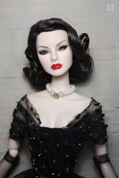 Gorgeous black-haired fashion doll.