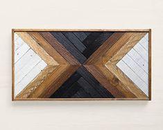 MAKA, Reclaimed wood wall art, Wood art, Wood wall art, Art deco furniture, Reclaimed wood furniture, Geometric wood wall art