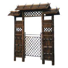 Oriental Furniture Japanese Style Zen Garden Gate - WD98095, Durable