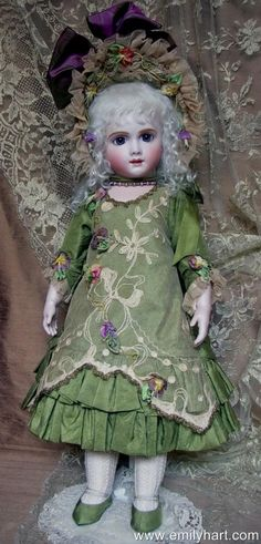 F. G. Gaultier French Bebe Antique Reproducion bisque doll by Emily Hart