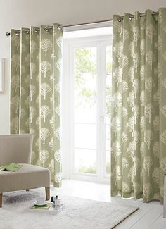 Trees Woodland Tree Forest Eyelet Ring Top Ready Made Curtains Or Cushion Cover in Home, Furniture & DIY, Curtains & Blinds, Curtains & Pelmets Green Curtains, Duck Egg Curtains, Curtain Fabric, Charcoal Curtains, Curtains With Rings, Tree Curtains, Lined Curtains, Home Decor, Ready Made Eyelet Curtains