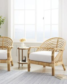 Boho Accent Chair, Accent Chairs, Lounges, Bamboo Furniture, Indoor Rattan Furniture, Rattan Armchair, Living Room Chairs, Living Rooms, Home And Living