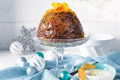 For a real show-stopper try this sensational Christmas pudding served with ice-cream, homemade orange butter and candied orange.