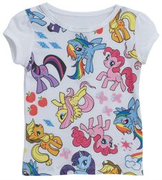 My Little Pony Ponies All Over Cartoon Mighty Fine Toddler T-Shirt Tee #MightyFine