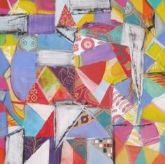 "Saatchi Art Artist Michelle Daisley Moffitt; Painting, ""Pieces"" #art"