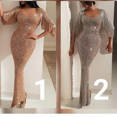 Lovely fitted sparkly gown w/ glittery flowy sleeves Champagne Evening Dress, Hijab Evening Dress, Mermaid Evening Dresses, Evening Gowns, Elegant Outfit, Elegant Dresses, Sexy Dresses, Fashion Dresses, Dinner Gowns