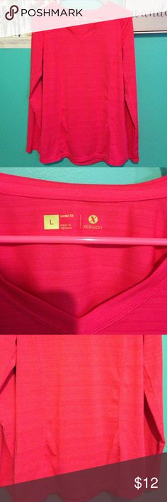 Xersion athletic shirt Pink athletic long sleeved shirt. Semi-fit. Perfect for outdoor activities. Panels that make the shirt look flattering and is great for workouts! Tops
