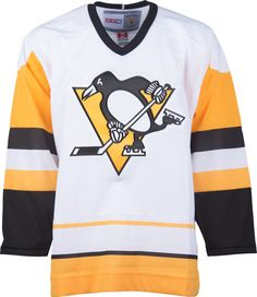 6df6ca34808 Pittsburgh Penguins CCM Vintage 1990 White Replica NHL Hockey Jersey  CoolHockey