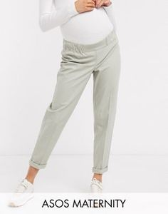 Discover maternity trousers and yoga pants at ASOS. From Maternity capri leggings & trousers to all your pregnancy style needs at ASOS. Order now at ASOS. Maternity Jumpsuit, Maternity Leggings, Asos Maternity, Maternity Tops, Floral Wide Leg Trousers, Chino Joggers, Peg Trousers, Belted Shirt Dress, Bustiers
