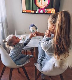 starbucks, baby, and kids image Cute Family, Baby Family, Family Goals, Mother And Baby, Mom And Baby, Baby Kids, Future Mom, Future Daughter, Baby Pictures