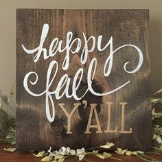 Autumn Sign Fall Sign Harvest Sign Fall Decor by CreateDesignLive Fall Pallet Signs, Pallet Art, Fall Signs, Pallet Projects, Vinyl Projects, Painted Wooden Signs, Diy Wood Signs, Rustic Signs, Christmas Signs Wood