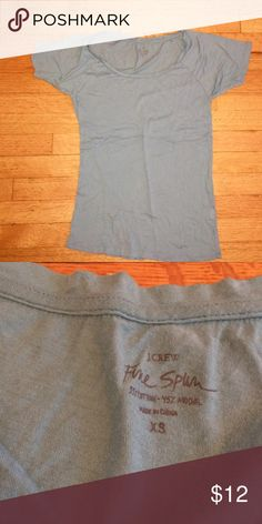 New J.Crew Blue Free Spun Tee New J.Crew Blue Free Spun Tee. Size XS. Brand new condition. Cotton blend. Super soft and comfy J. Crew Tops Tees - Short Sleeve