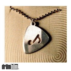 Pewter Guitar Pick Necklace - Music Note - In a nice gift box for presentation. I love the simplicity of this necklace. #gifts