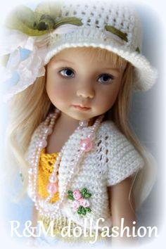 R-M-DOLLFASHION-SUMMER-LINE-OOAK-handknit-set-for-Effner-LITTLE-DARLING-13-doll