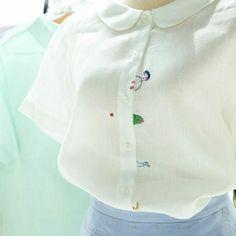 Блузка со смешной вышивкой / Вышивка / ВТОРАЯ УЛИЦА