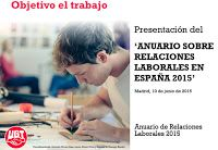 REDACCIÓN SINDICAL MADRID: UGT presenta el Anuario de Relaciones Laborales 20...
