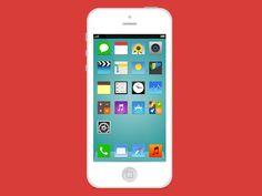 Flat iOS iCons by Thomas Giavarini