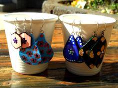 by Golden Heart Crafts Golden Heart, Heart Crafts, Hand Painted, Earrings, Handmade, Ear Rings, Stud Earrings, Hand Made, Ear Piercings