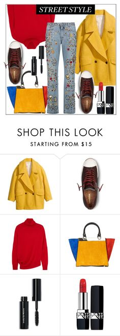 """""""Everyday is the Best Day in the Year"""" by pat912 ❤ liked on Polyvore featuring H&M, Converse, Balenciaga, Alice + Olivia, Bobbi Brown Cosmetics, Christian Dior, Dolce&Gabbana and polyvoreeditorial"""