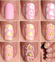 Beautiful nail art designs that are just too cute to resist. It's time to try out something new with your nail art. Cute Nail Art, Cute Acrylic Nails, Nail Art Diy, Easy Nail Art, Acrylic Nail Designs, Diy Nails, Cute Nails, Pretty Nails, Food Nail Art