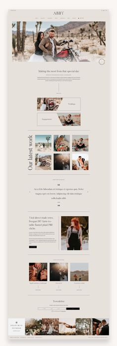 Abby is a feminine, delicate and beautiful Genesis Child Theme for Wordpress.org designed for female photographers in mind. #Genesis #GenesisChildTheme #Photograhers #FeminineWordPress #premiumTheme