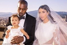 North West on Kim Kardashian and Kanye West's wedding day