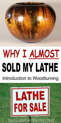 Woodturning for Beginners. Why I almost sold my lathe. Experience some of the problems and challenges involved with turning wood. Learn from my mistakes as you begin your journey into turning wood. Woodturning Tools, Lathe Tools, Woodworking Lathe, Learn Woodworking, Woodworking Projects, Woodturning Videos, Woodworking Basics, Carpentry, Wood Turning Lathe
