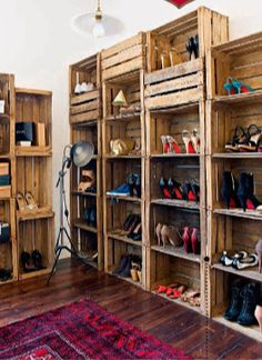 Photo from Living, Etc. February 2012 - closet in the 3 story remodeled Victorian terrace house in NW London owned by Kellie McSorley and Wael Allam