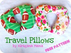 DIY travel pillow (2T & 4T sizes) -- made these for our last trip and the kids loved them! SO easy to throw together the night before, too ;)