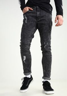 Slim fit jeans - grey denim